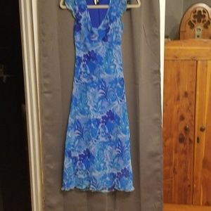 I.N.San Franciso floral in blues. Size 3